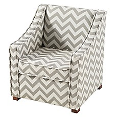 image of Tree House Lane Chevron Chair in Grey/White