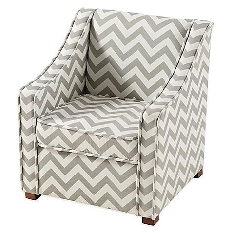 Genial Tree House Lane Chevron Chair In Grey/White