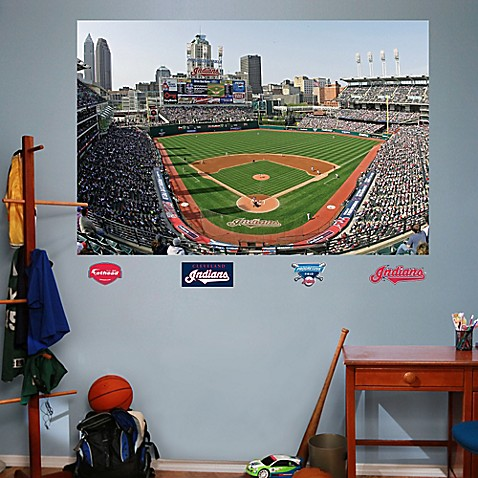 Fathead mlb cleveland indians stadium mural wall graphic for Baseball stadium wall mural