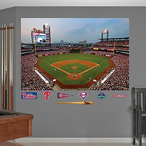 Fathead mlb philadelphia phillies stadium mural wall for Baseball stadium wall mural