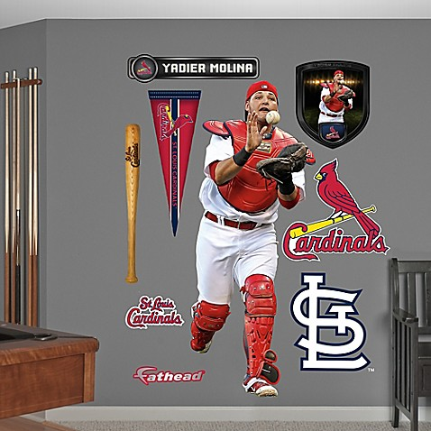 buy fathead mlb st louis cardinals yadier molina wall. Black Bedroom Furniture Sets. Home Design Ideas