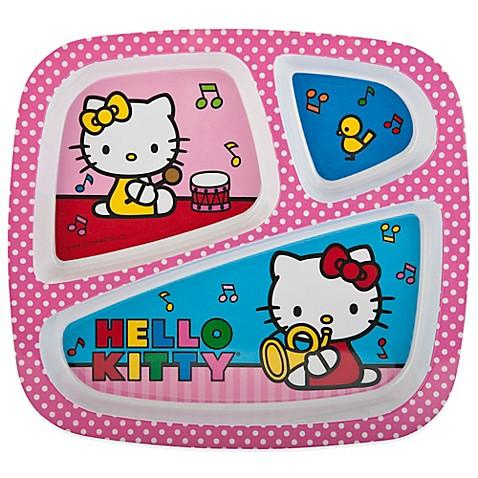 Zak Designs 174 Hello Kitty 174 Divided Kid S Dinner Plate