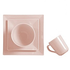 image of Real Simple® Square 4-Piece Place Setting in Tea Rose