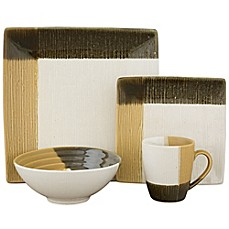 image of Sango Odyssey 16-Piece Dinnerware Set in Black