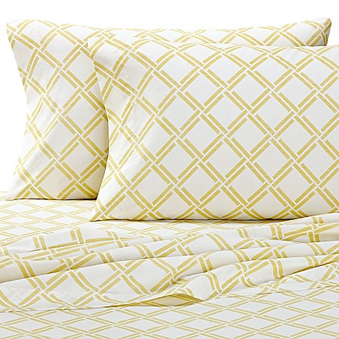 Nautica 174 Shelford Sheet Set In Yellow White Bed Bath