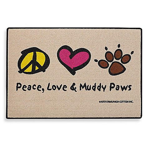 Peace Love Amp Muddy Paws Door Mat Bed Bath Amp Beyond