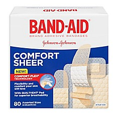 image of Band-Aid® 80-Count Assorted Sheer Bandages