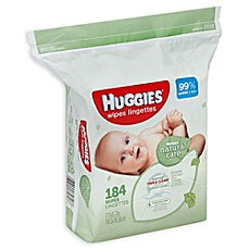 image of Huggies® Natural Care 184-Count Unscented Baby Wipes