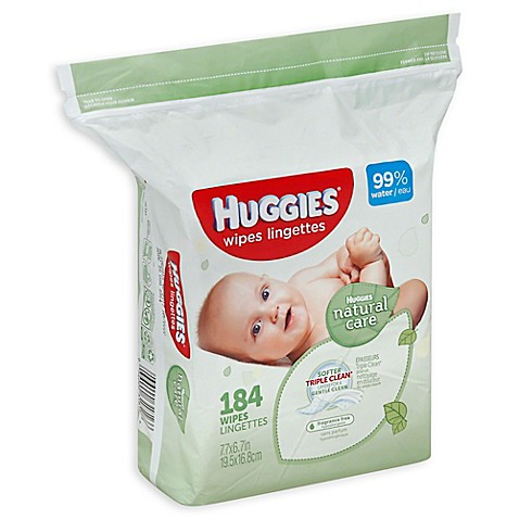 Huggies® Natural Care 184-Count Unscented Baby Wipes ...