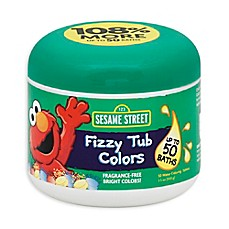 image of Sesame Street® Bath Collection 24-Count Fizzy Tub Colors Water Coloring Tablets