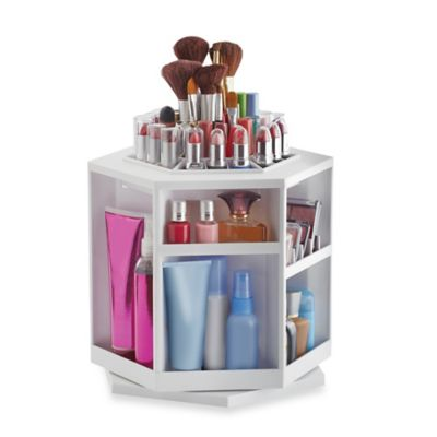 Lori Greiner Spinning Cosmetic Organizer in White Bed Bath Beyond