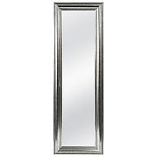 image of Better 53.5-Inch x 17.5-Inch Over-the-Door Mirror in Silver Double Bead