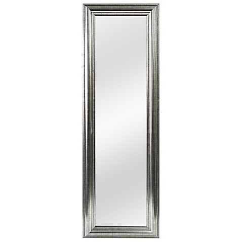 Better 53.5-Inch x 17.5-Inch Over-the-Door Mirror in Silver Double ...