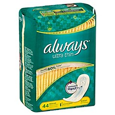 image of Always Ultra Thin 44-Count Regular Maxi Pads