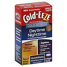 image of Cold-EEZE® Daytime/Nighttime Cold Remedy 24-Count Quick Melts in Mixed Berry Flavor