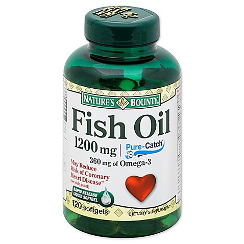Buy nature 39 s bounty 100 count 1200 mg fish oil rapid for Fish oil for add
