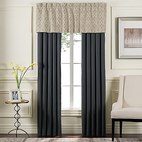 Sonoma Window Curtain Panel Pair And Valance In Grey Bed Bath Beyond
