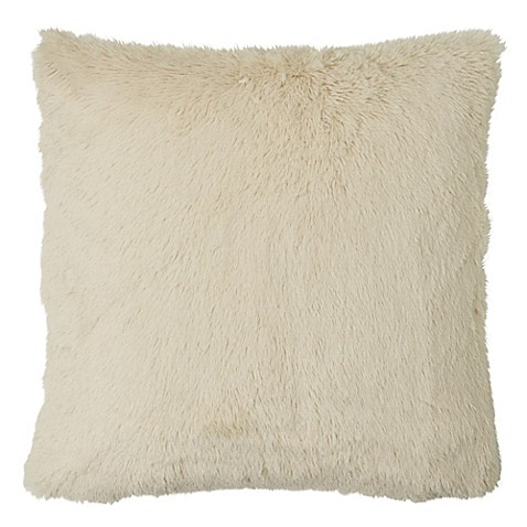 Myop Throw Pillow Covers : MYOP Polar Fur Square Throw Pillow Cover in Cream - Bed Bath & Beyond