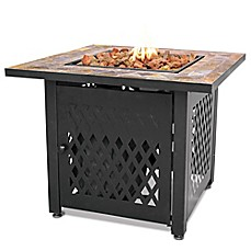 image of UniFlame® Endless Summer® LP Gas Fire Pit with Slate Tile Mantel