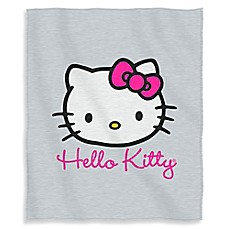 image of Hello Kitty Cursive Kitty Sweatshirt Throw