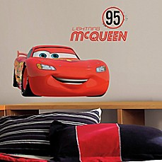 image of Disney® Cars Lightning McQueen Number 95 Peel and Stick Giant Wall Decals