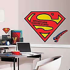 image of DC Comics™ Superman Logo Dry Erase Giant Peel and Stick Wall Decals