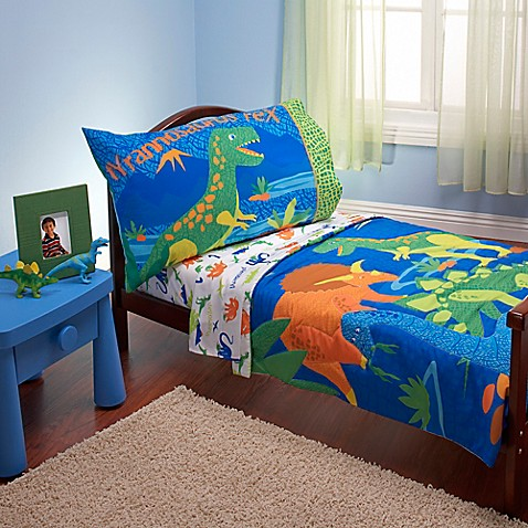 Everything Kids by Nojo® Dinosaurs 4-Piece Toddler Bedding ...