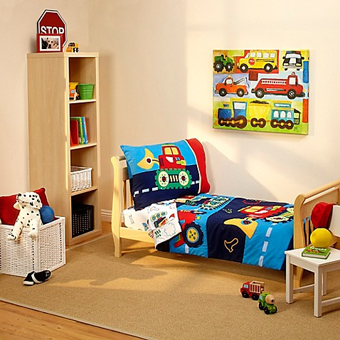 Image Of Everything Kids By Nojo Under Construction 4 Piece Toddler Bedding Set