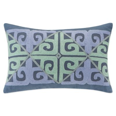 Buy Echo Kamala Oblong Throw Pillow in Blue/Aqua from Bed Bath & Beyond
