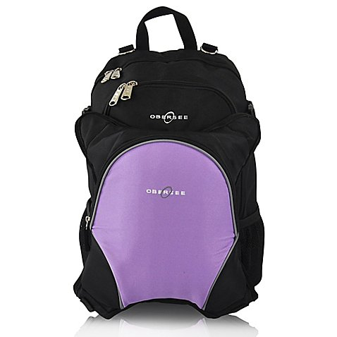 obersee rio diaper bag backpack with detachable cooler in black purple buybuy baby. Black Bedroom Furniture Sets. Home Design Ideas