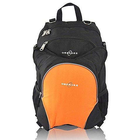 obersee rio diaper bag backpack with detachable cooler in black orange bed. Black Bedroom Furniture Sets. Home Design Ideas