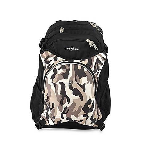 obersee bern diaper bag backpack with detachable cooler in camo buybuy baby. Black Bedroom Furniture Sets. Home Design Ideas