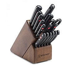 image of Wusthof® Gourmet 18-Piece Promo Walnut Knife Block Set