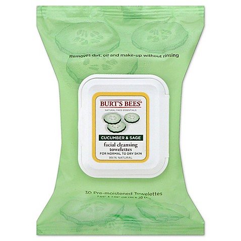Burt's Bees® 30-Count Facial Cleansing Towelettes in Cucumber and Sage