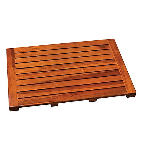 Image Of Teak Tub Mat