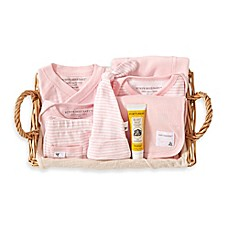 image of Burt's Bees Baby® 9-Piece Take Me Home Gift Basket in Blossom