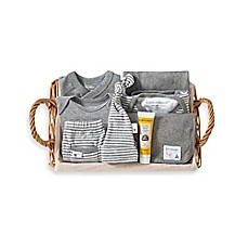 image of Burt's Bees Baby® 9-Piece Take Me Home Gift Basket in Grey