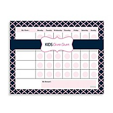 image of Kahootie Co® Kids Chore Chart Notepad in Pink/Blue