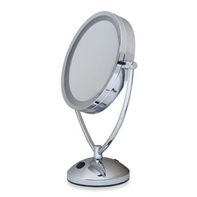 Lighted Vanity Mirror Chrome : 1x/10x Magnifying Lighted Chrome Vanity Mirror - Bed Bath & Beyond