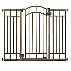 image of HOMESAFE™ by Summer Infant® Multi-Use Deco Extra Tall Walk-Thru Gate in Bronze