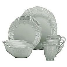 image of Lenox® French Perle 16-Piece Dinnerware Set in Grey