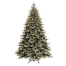 image of national tree 75 foot feel real frosted arctic spruce pre lit - Christmas Tree Pre Lit