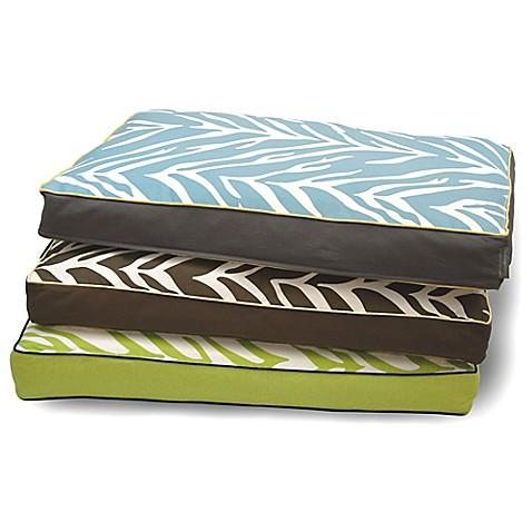 EZ Living Home Zebra Memory Foam Water Repellent Pet Pillow Bed Bed Bath
