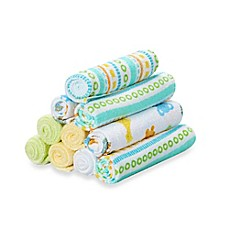 image of Spasilk® 10-Pack Washcloth Set in Yellow Lines
