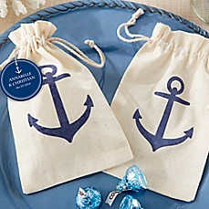 image of Kate Aspen® Voyages Anchor Muslin Favor Bag (Set of 12)