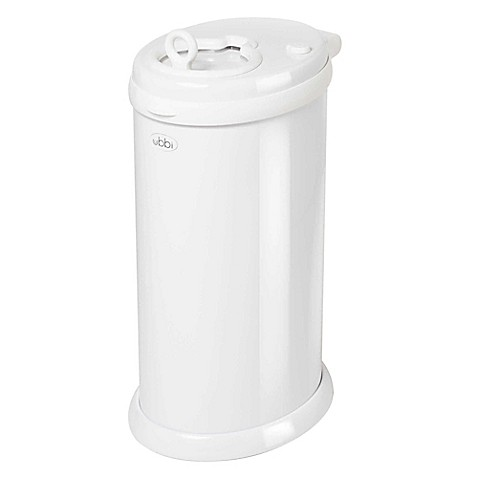 Ubbi® Diaper Pail in White - buybuy BABY