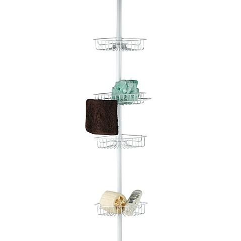 4 Shelf Tension Pole Shower Caddy. 4 Shelf Tension Pole Shower Caddy   Bed Bath   Beyond