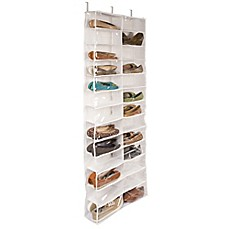 Closetware Clear Over The Door 26 Pocket Shoe Organizer