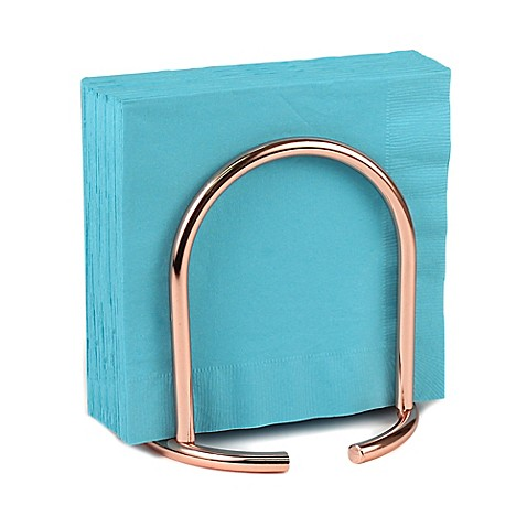 Spectrum euro napkin holder in copper bed bath beyond for Bathroom napkin holder