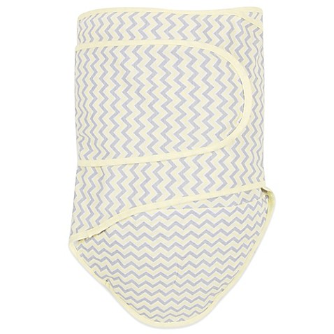 Miracle Blanket® Chevron Swaddle in Yellow/Grey